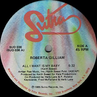 Roberta Gilliam - All I Want Is My Baby