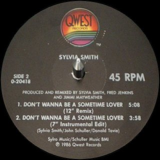 "Sylvia Smith - Don't Wanna Be A Sometime Lover (12"" Remix)"