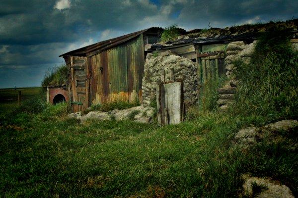 la cabane du berger dans les près salés du mont saint michel