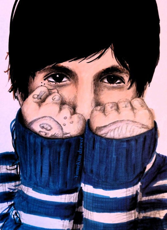 Oliver Sykes / Oli Sykes of Bring me the Horizon / Drawing by YumeKim