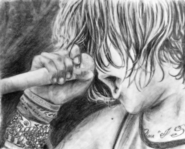 Kellin Quinn from SLEEPING WITH SIRENS / Drawing by Yume Kim (2)