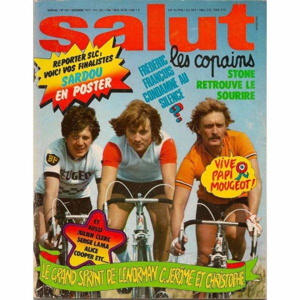 en couverture du magazine salut le copains avec Gérard Lenormand et Christophe...