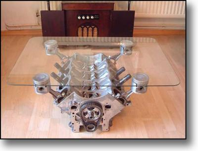 Moteur V8 Forme Table Basse La Vie La Vivre A 200