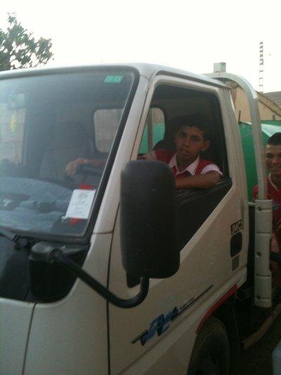 moi  et le camion en Algérie
