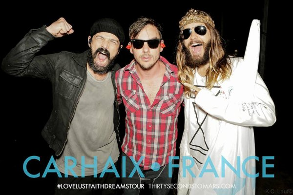 Photos France Love Lust Faith Dreams Tour + 2 photos du instagram de Jared