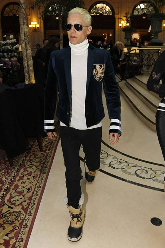 Jared au Balmain et Lanvin show Paris Fashion Week 05.03.15