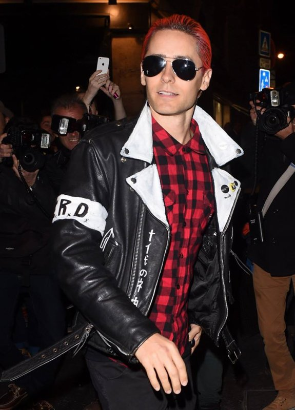 Jared arrives Balmain After Party Dinner Paris 1 Oct 2015
