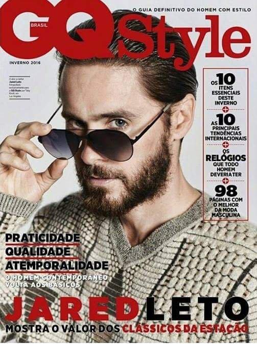 Jared en pleine escalade et en couverture du GQ Style (Brézil)