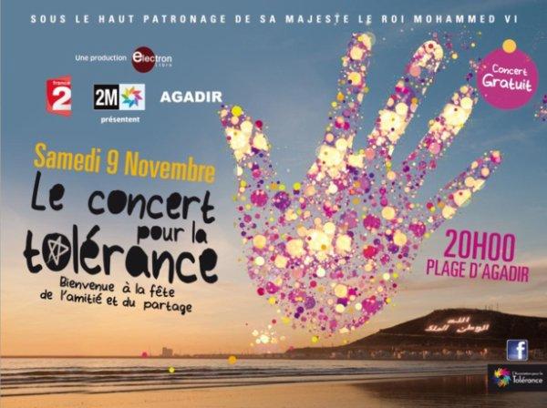 AGADIR Concert Pour la Tolérance 2013 : une programmation de luxe
