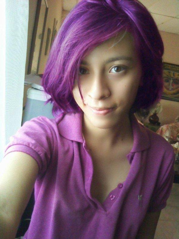 My hair purple!