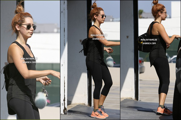21/08/15: Ashley a été vue sortant de la salle de sport à West Hollywood.