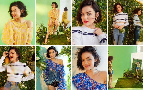 Lucy Hale par Ashley Batz pour Bustle Magazine