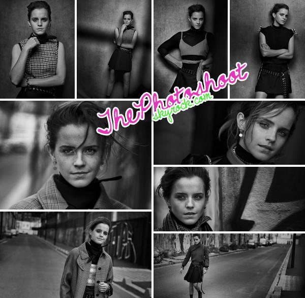Emma Watson par Peter Lindbergh pour Interview