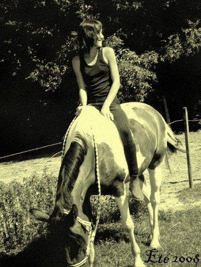 Ne brusque pas les choses. Laisse le temps faire, et si ton cheval veut de toi, il te le montrera par lui-même.