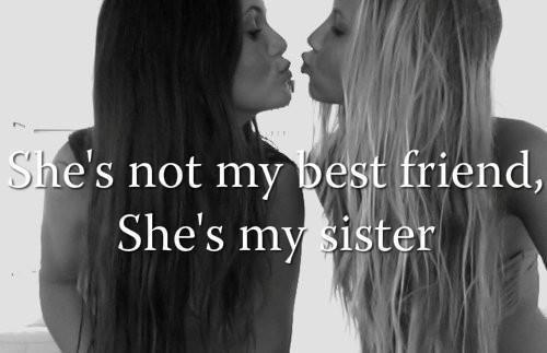 Une vraie amie.