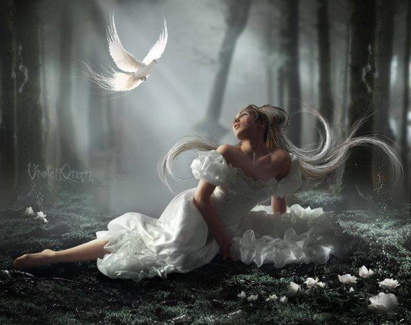 Que la paix soit sur le monde          pour les cent mille ans qui viennent            donnez nous mille colombes           et des milliers d hirondelles         faites un jour que tous les hommes            redeviennent des enfants ,,,,,