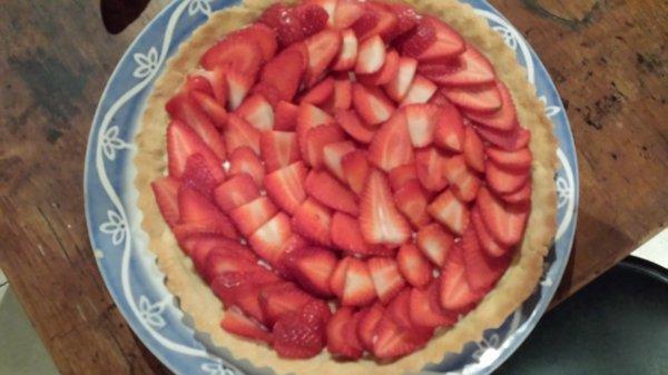 une tarte aux fraises