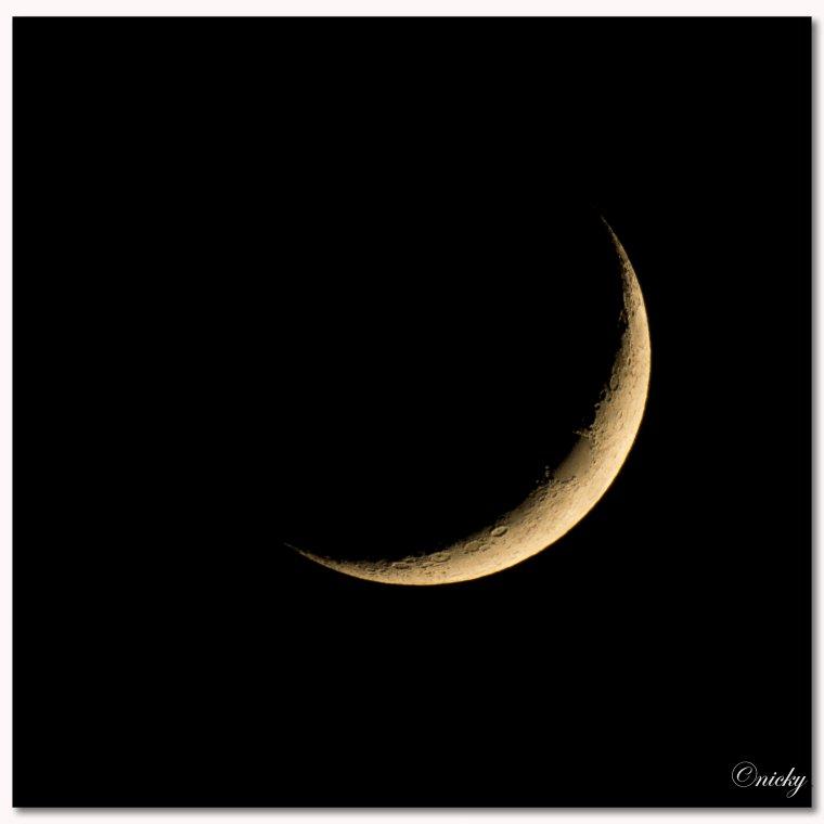 croissant de lune au 600 mm