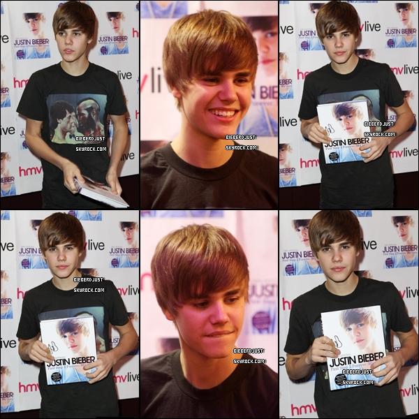 Justin a donné une séance de dédicace de son livre aujourd'hui à Londres
