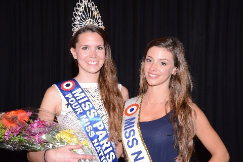 "Norma JULIA ""MISS NATIONALE 2014"" avec la nouvelle ""MISS PARIS 2014"" étudiante de 23 ans mesurant 1m85 !"
