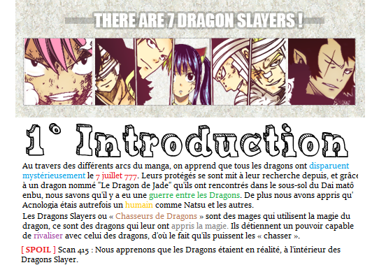 ✪Fairy Tail ▼ Dragons Slayers