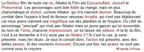 "✪Autres ▼ Captain Harlock ""Albator"""
