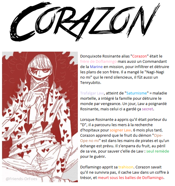 "✪One Piece ▼ Donquixote ""Corazon"" Rosinante"
