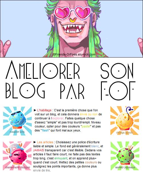 ✪Autres ▼ Améliorer son blog