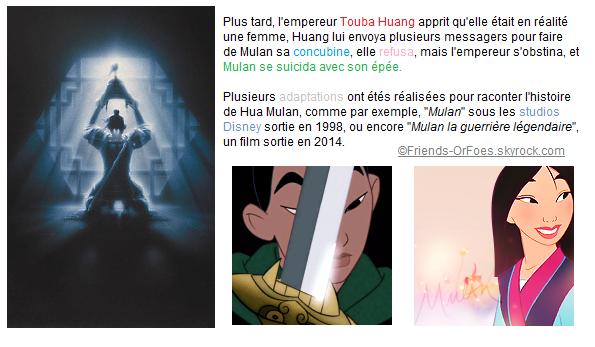 ✪Culture ▼ La Légende de Mulan