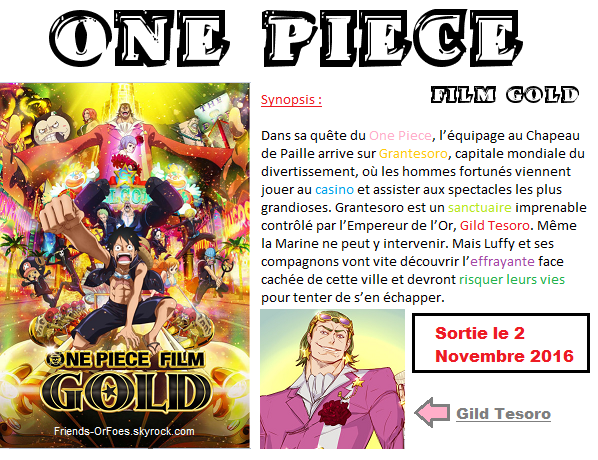 ✪One Piece Film Gold