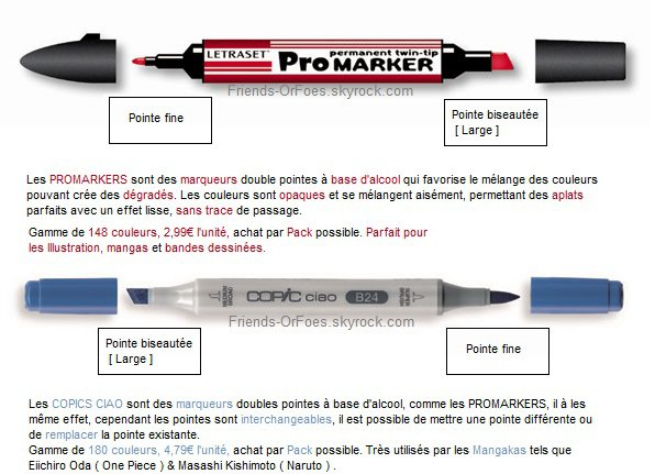 ✪Autres ▼ Promarkers vs. Copic Ciao