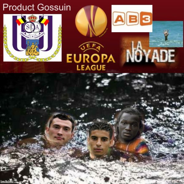 Anderlecht la noyade en Europa League