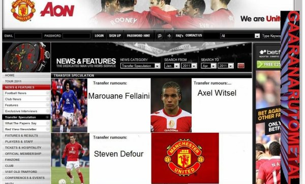 Fellaini,Defour et Witsel transfert à Manchester united
