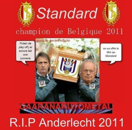 STANDARD CHAMPION 2011 ANDERLECHT RIP 2011