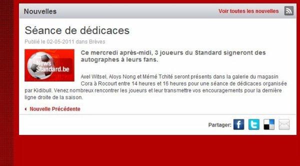 """Geste de charité :""""les stars de sclessin signeront des autographes pour les baraki liegeois"""""""