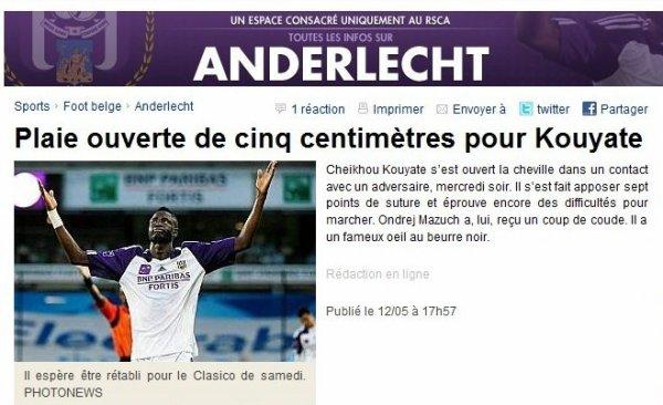 Le classico annulé? hécatombes à Anderlecht
