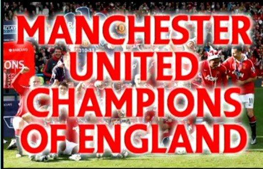 Manchester United a obtenu un record en angleterre du titre 19 et 12 de la Ligue époque premier