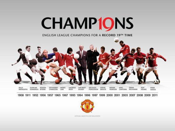 ENGLISH LEAGUE CHAMPIONS FOR A RECORD 19 TIME