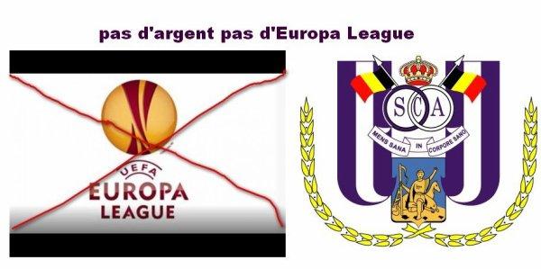 Anderlecht ne participera peut etre pas à l'Europa league?