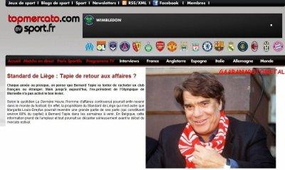 Bernard Tapie au Standard ?
