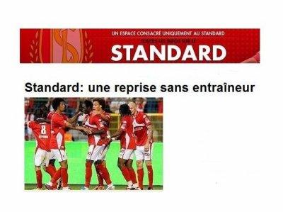Standard:reprise sans entraineur