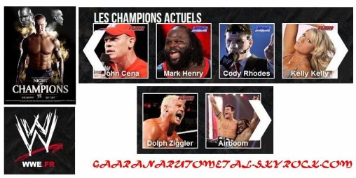NIGHT OF THE CHAMPIONS: les résultats