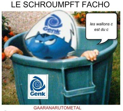 LE SCHROUMPFT FACHO DE GENK