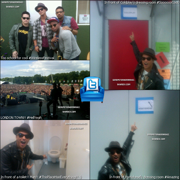 01/07/11 :  Bruno était aux Wireless Festival à Londres.