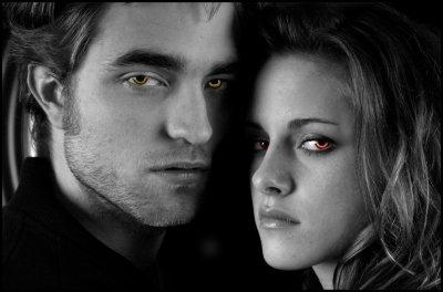 Une humaine et un vampire