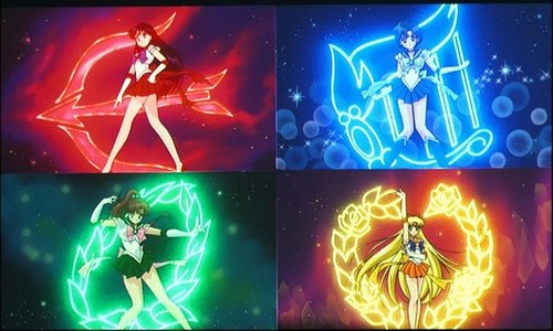 sailor mars,mercury,jupiter,vénus