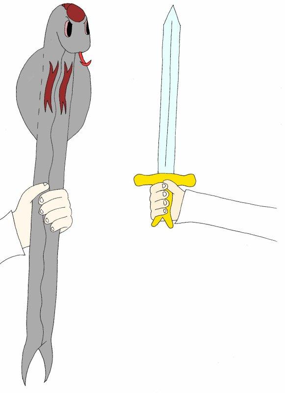 Bâton du Serpi vs l'Epée de Capucine