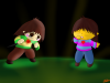 Chara and Frisk 3 + Speedpaint
