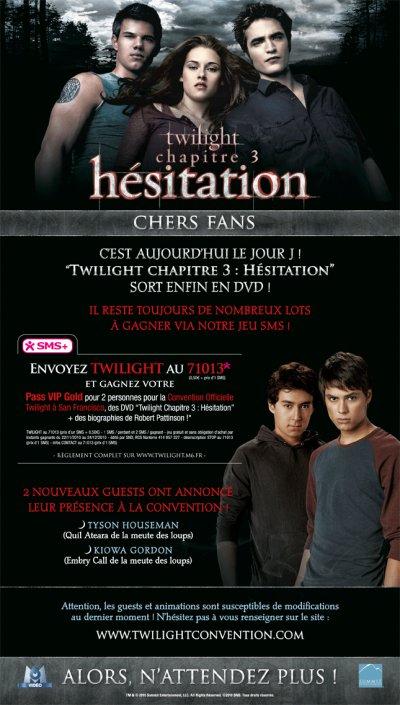 Hésitation en DVD!