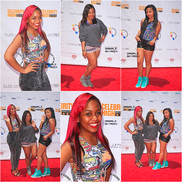 "11/05/13: Bre, Bahja et Niq étaient aux LAUSD's Beyond The Bell Branch et aux Celebrity High Present ""Spotlight On Success"" organisée par Nick Cannons à Hollywood, Californie"